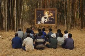 Araya Rasdjarmrearnsook, Manet's Luncheon on the Grass and the Thai Farmers, 2008, video