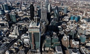 Aerial views of London, Britain - 05 Mar 2013