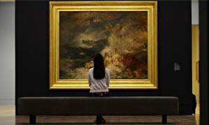 JMW Turner's A Disaster at Sea on display at Tate Britain.
